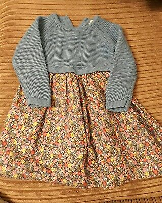 ladybird long sleeved jumper top dress, age 12-18 months