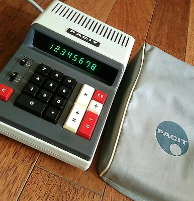 VTG Early 70's Facit Desktop Electronic Calculator 1114J With Cover Japan WORKS