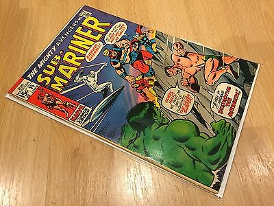 Vintage Marvel Comics Sub Mariner #35 Prelude to 1st Defenders Good Condition!