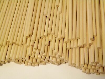 """60 Count Natural Birch Wood Dowel Rods 1/4"""" x 12"""" (Made in USA)"""