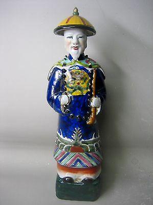 Vintage Chinese hand painted pottery figurine