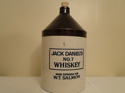 Rare Jack Daniels No.7 Whiskey Jug Crock one gallon Made Expressly W.T.Salmon
