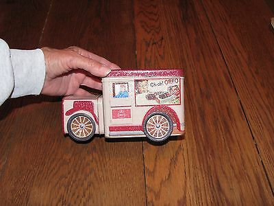 vintage metal advertising tin_delivery truck_Oreo cookies