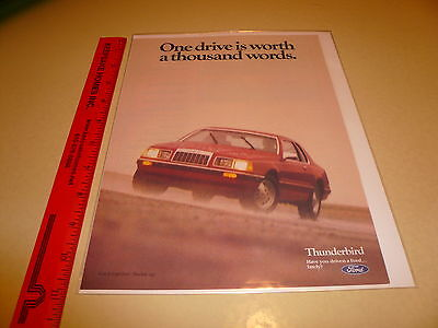 Ford Thunderbird T-Bird Red Coupe Ad Advertisement Vintage
