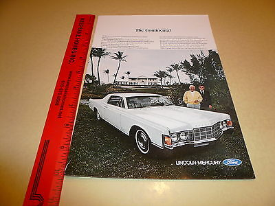 1969 Lincoln Continental White 2 Dr Ad Advertisement Vintage