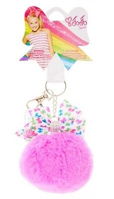 JoJo Siwa JoJo Siwa Purple/Pink Pom Pom with BOW PRINT Bow KEYCHAIN KEY RING