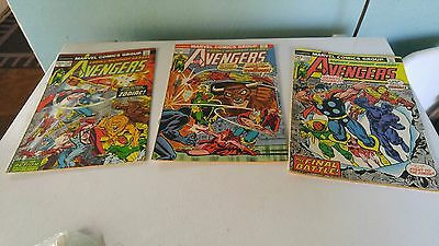 THE AVENGERS (1st Series) Lot of 3 Marvel Comic BookS