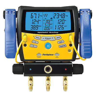 Fieldpiece SMAN360 3-Port Digital Manifold with Vacuum Gauge