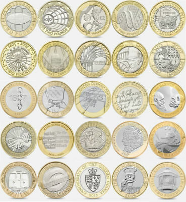 Rare £2 two Pound UK coin hunt albums Commonwealth Shakespeare Mary Rose WW2