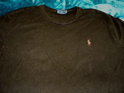 Mens Polo Ralph Lauren Red Pony Black T Shirt Size M