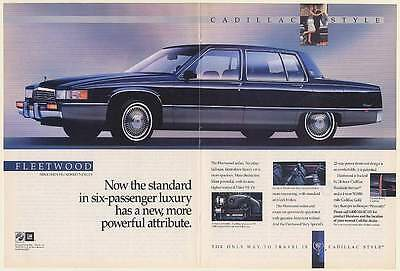 1990 Cadillac Fleetwood Sixty Special Sedan Six-Passenger Luxury Double-Page Ad