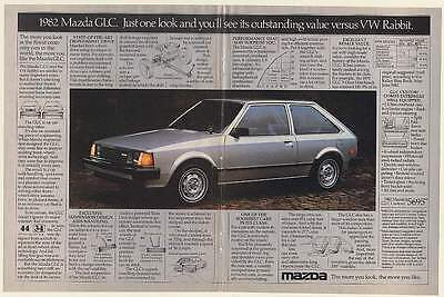 1982 Mazda GLC Just One Look You'll See Outstanding Value versus VW Rabbit Ad