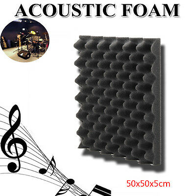 50x50x5cm Acoustic Soundproof Sound Thick Absorption Pyramid Studio Foam Board