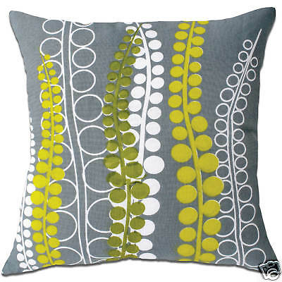 brushed vine green and grey cushion covers