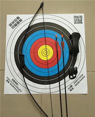 """20IBS Kid Black Archery Hunting Bow Sets 20"""" W/Protectors&Safe Practice Arrow"""