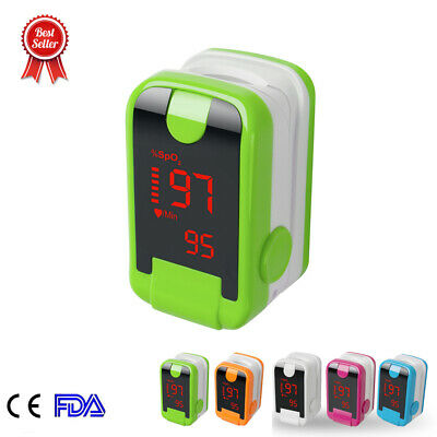 Blood Oxygen Finger Pulse Oximeter Oxymeter SPO2 PR Checker US Ship CE Sale