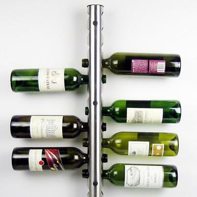 Stainless Steel Wine Rack Bar Wall Mounted Kitchen Holder 12 Bottles Shelf