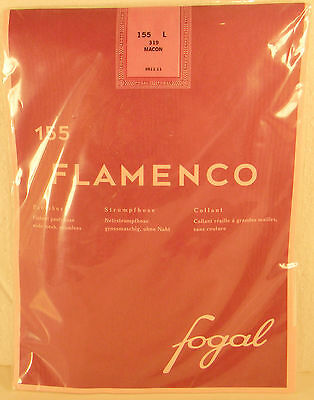 Fogal Fishnet Pantyhose Stockings (Sheer To Waist)  Hosiery Tights Red Large