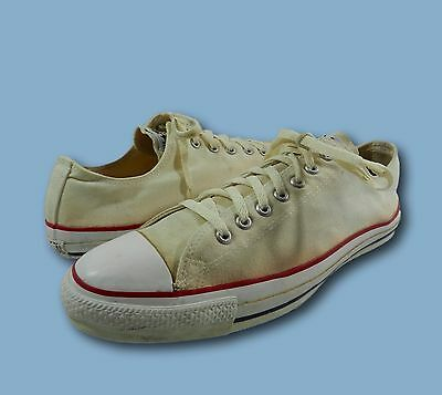 Vintage Men's CONVERSE Cream Canvas Low Top Athletic Sneakers Sz 14 USA Made