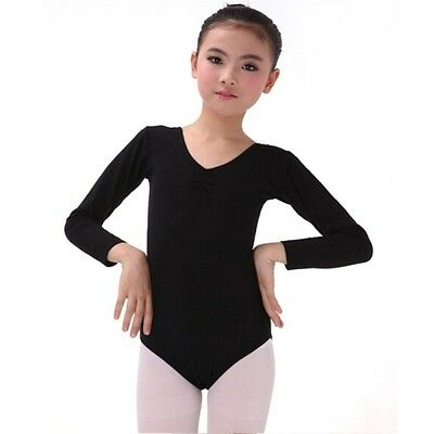 Baby Kid Girls Long Sleeve Ballet Dance Clothes Leotard Ggmnastic Workout Wear