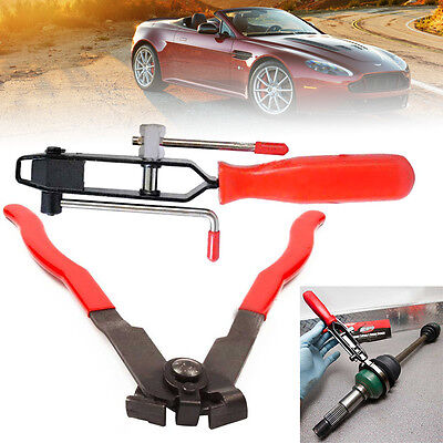 2PC CV Joint Boot Clamp Pliers Car Banding Tool Kit Set CV Boot Clamp Installer
