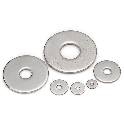 Stainless Penny Repair Washers Mudguard Washers M3 M4 M5 M6 M8 M10 M12 M14 M16