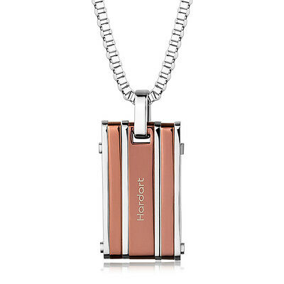Fashion Jewelry 316L Stainless Steel pendant IP Colors Box Chain Necklace unisex