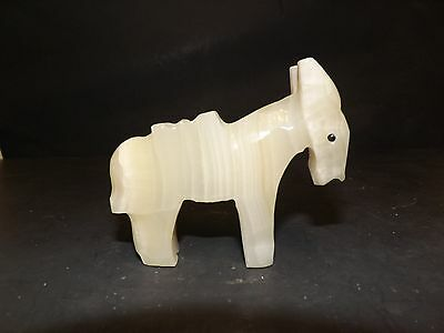 Alabaster Marble Cream Color Donkey Burro Figurine