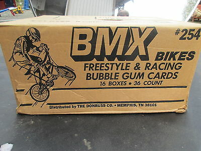 1984 Donruss Bmx 16 Wax Box Case Cards 576 Sealed Packs Rare Non Sports