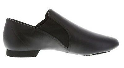NEW IN BOX * Women's ABT Black Leather Twin Gore Jazz Shoe Sz 8