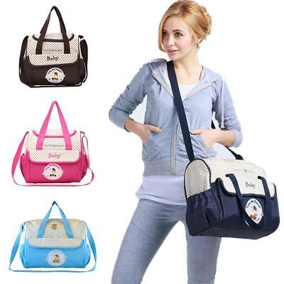 2pcs Waterproof Baby Changing Hospital Bags Mummy Shoulder Nappy Diaper Bag Set