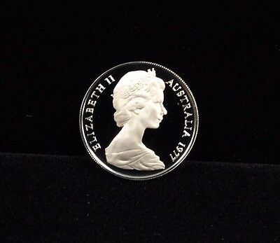 1977 Australia 10 Cent Proof Coin KM 65 Only 55,000 Minted