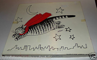 Super Cat Jigsaw Puzzle 1979 B. Kliban Made By The Great American Puzzle Factory