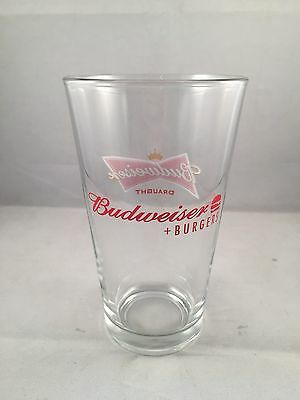 Budweiser Beer and Burgers - 16 oz Pint Glass - NEW