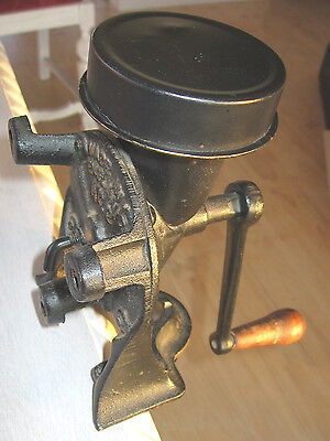 Vintage Antique Spong & Co. Ltd. No. 2 Cast Iron Coffee Grinder Made In England