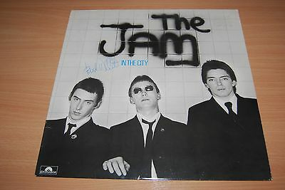 THE JAM In The City RARE SIGNED BY PAUL WELLER UK LP WITH AUTHENTICATION.