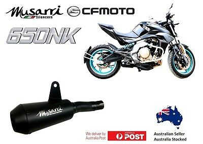 CFmoto 650NK 2012-2017 Musarri Black GP Street Series slipon exhaust