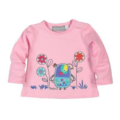 Bóboli Girls Baby Long Sleeve Shirt Bird pink sz. 56 62 68 74 80 86 92