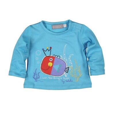 Bóboli Baby Boy's Long Sleeve Shirt Fish Sz. 56 62 68 74 80 86 92