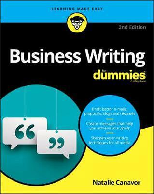 Business Writing for Dummies, 2nd Edition by Natalie Canavor Paperback Book Free