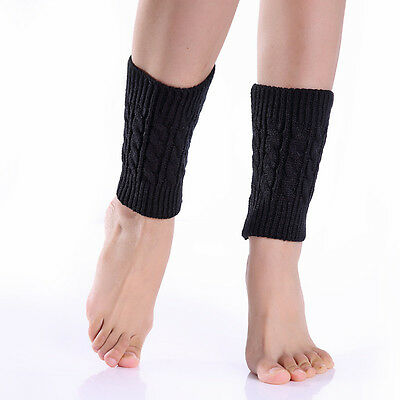 Winter Crochet Womens Girls Lady Adult Short Leg Warmers Socks Ankle Boots Sock