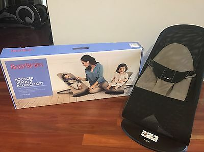 Baby Bjorn Soft Bouncer Toddler Chair Black And Beige In Box RRP $220