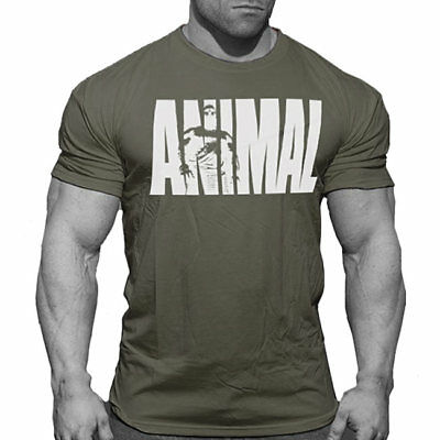 Universal Nutrition - Animal T-Shirt, Muskelshirt, Bodybuilding Top Fitness.