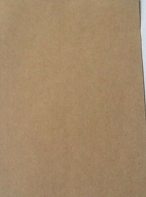 60 Sheets Recycled Brown Paper Card A5 200gsm