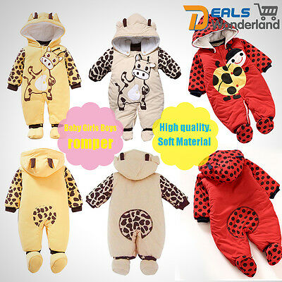 Cotton Newborn Baby Clothes Sets Girl Boy Romper Jumpsuit Winter Outwear Outfits