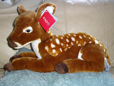 "TOYS 'R' US - Large Cuddly 18"" Plush Fawn Deer Soft Spotty Fur Toy NEW GIFT"