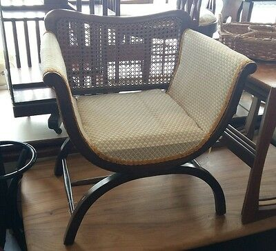 small antique bergere chair x frame