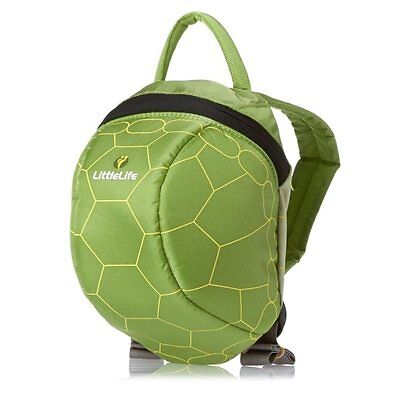 Littlelife Green Turtle Toddler Backpack With Reins, Top Grab Handle