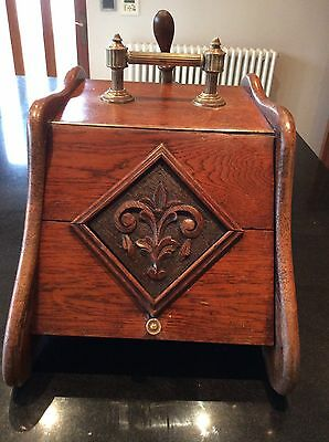 This Is A Gorgeous Wooden Coal Scuttle