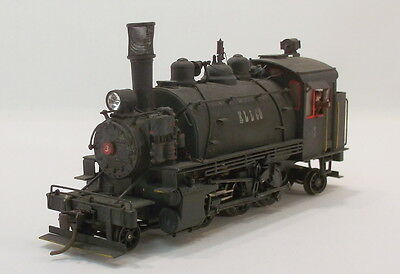 HO BRASS NWSL ROD LOGGING BALDWIN 2-6-2T TANK ENGINE PAINTED & WEATHERED KLL Co